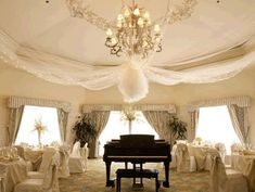 Inexpensive And Glamour Tulle Wedding Decorations
