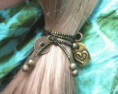 Items similar to Adult Black Beaded Hair Tie, Women's Ponytail Holder , Black White Hair Accessory on Etsy Black White Hair, Hair Beads, Ponytail Holders, Women Jewelry, Unique Jewelry, Hair Ties, Hair Accessories, Trending Outfits, Beauty