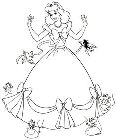 Disney Coloring Pages | Free Printable Cinderella Coloring Pages For Kids