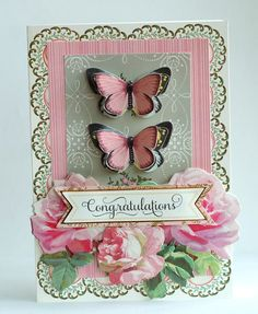 Beautiful card created by Anna Griffin using her own products.