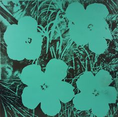Andy Warhol Flowers C 1967 Blue print for sale. Shop for Andy Warhol Flowers C 1967 Blue painting and frame at discount price, ships in 24 hours. Andy Warhol Flowers, Andy Warhol Pop Art, Andy Warhol Works, Modern Pop Art, Museum Of Modern Art, Warhol Paintings, James Rosenquist, Art Bleu, Pintura