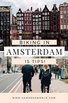 Biking in Amsterdam is unlike biking anywhere else. Amsterdam is a city made for bikes which is why there are more bikes than people! Biking is the easiest, fastest, and most convenient way to get around the city you will find bike paths and bikers on every street in every part of Amsterdam. Hiking Europe, Europe Travel Guide, Asia Travel, Travel Guides, Amsterdam Itinerary, Amsterdam City Guide, Amsterdam Travel, European Road Trip, European Travel