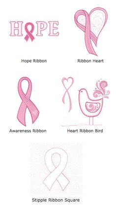 Embroidery Online has posted this free collection for Breast Cancer Awareness Month.