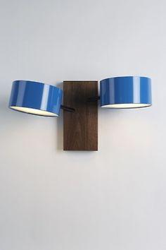 Blue wall mounted lighting, reading light lamp