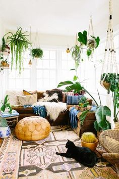 Bohemian Escape - 16 Cozy Living Rooms We Want To Live In - Photos