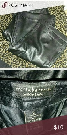 Lambskin leather pants Black 100% lambskin leather pants from Kohls. In great condition.  Boot cut style. croft & barrow Pants Boot Cut & Flare