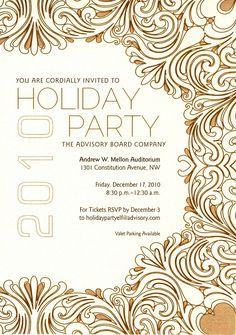 Mysoon Taha Portfolio: Company Christmas party invitation