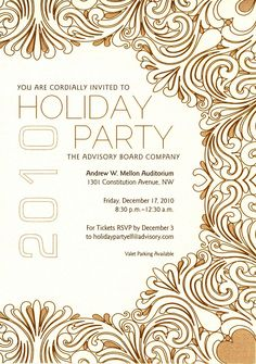 Mysoon Taha Portfolio: Company Christmas party invitation