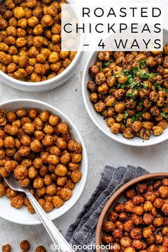 This Mediterranean Oven Roasted Chickpeas recipe is a great snack idea to substitute for peanuts - it has lower calories and lower fat and very customizable Chickpea Snacks, Chickpea Recipes, Vegan Snacks, Healthy Dinner Recipes, Vegetarian Recipes, Cooking Recipes, Easy Chickpea Recipe, Recipes With Chickpeas, Chickpea Salad