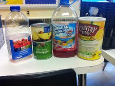 Our breakfast punch .5 scoops of lemonade , a can of lemon juice, a 2qt bottle cran strawberry, and 1/3 bottle of hawaiian fruit punch....yum!!