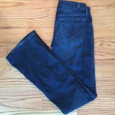 "7 for all mankind bootcut ""A Pocket"" jeans 7 for All Mankind dark wash jeans. ""A Pocket"". Size 27. Dark A stitching on back pockets. Excellent condition. Rarely worn. No trades. 7 for all Mankind Jeans Boot Cut"