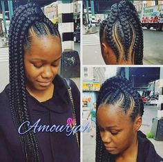 Love this braided ponytail So neat and different - Looking for Hair Extensions to refresh your hair look instantly? focus on offering premium quality remy clip in hair. Feed In Braids Ponytail, Cornrow Ponytail, Quick Braids, Braided Ponytail Hairstyles, Big Braids, Braids Cornrows, Jumbo Braids, Braided Updo, Feed In Braids Hairstyles