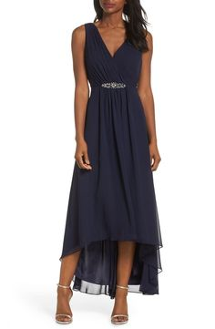 online shopping for Eliza J Wrap Look High/Low Chiffon Dress (Regular & Petite) from top store. See new offer for Eliza J Wrap Look High/Low Chiffon Dress (Regular & Petite) Mother Of The Bride Dresses Long, Mother Of Bride Outfits, Mothers Dresses, Grooms Mother Dresses, Mother Of The Bride Fashion, High Low Chiffon Dress, Chiffon Gown, Chiffon Dresses, Blue High Low Dress
