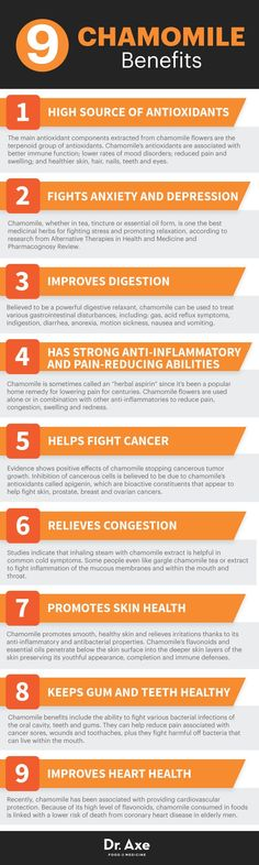 Chamomile benefits - Dr. Axe http://www.draxe.com #health #holistic #natural