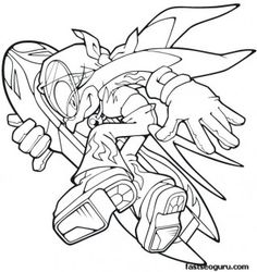 Printable Sonic The Hedgehog Wave Coloring Pages