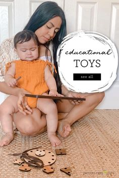 Educational toys for babies and toddlers handmade in the USA from sustainable woods. Give your little ones thoughtful, quality toys that both inspire them and are good for the earth too! #educationaltoys #woodtoys Baby Toys, Kids Toys, Wooden Alphabet Letters, Natural Parenting, Creative Play, Wood Toys, Raising Kids, Educational Toys, Little Ones