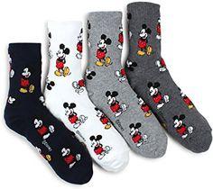 Amazon.com: Kiki Mickey Icon Crew Socks(Mickey 4pairs) with Intype Pouch: Home & Kitchen