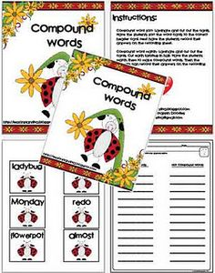 Compound Words Centers