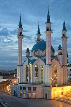 Qol Sharif Mosque, Kazan Kremlin, Russia was originally built in the 16th century.