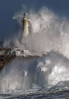Mouro Lighthouse, Cantabria Spain