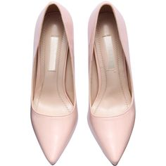 SheIn(sheinside) Pink Pointed Toe Patent Leather Pumps ($39) ❤ liked on Polyvore featuring shoes, pumps, heels, pink platform pumps, d orsay pumps, pointed-toe pumps, high heel pumps and high heel shoes