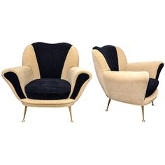 Two 1950s Italian Armchairs by Osvaldo Borsani