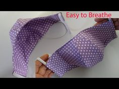 """Easy to Breathe Summer Face Mask Sewing Tutorial & Pattern 