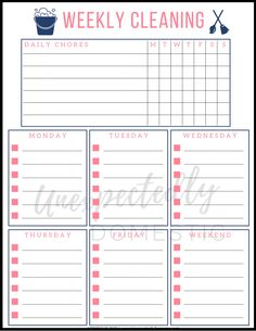 This simple weekly house-cleaning routine is a re. This simple weekly house-cleaning routine is a re. This simple weekly house-cleaning r. Weekly Cleaning Schedule Printable, Weekly House Cleaning, Household Cleaning Schedule, Cleaning Schedule Templates, House Cleaning Checklist, Clean House Schedule, Cleaning Schedules, Checklist Template, Cleaning Hacks