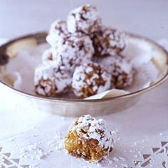 Sugarplums. Stuffed with almonds, apricots, and dates with a spicy–sweet perfume, these sugar plums are so good you'll have visions of them dancing in your head.
