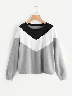 Shop Cut And Sew Sweatshirt online. SheIn offers Cut And Sew Sweatshirt & more to fit your fashionable needs.