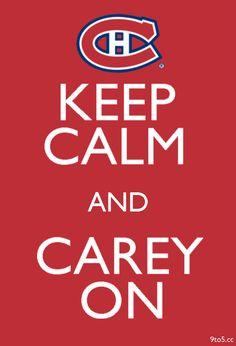 Carey On - Carey Price -Hockey Goalie - Habs Nhl Hockey Jerseys, Hockey Logos, Pro Hockey, Hockey Mom, Hockey Stuff, Goalie Quotes, Hockey Quotes, Montreal Hockey, Of Montreal