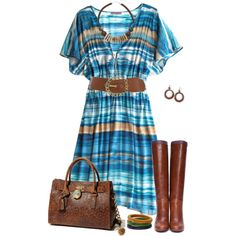 """""""Striped Dress2"""" by daiscat on Polyvore"""