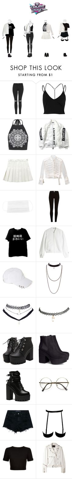 """[M!Count Down] Comeback SWIRL - KARMA"" by swirlsquad1234 ❤ liked on Polyvore featuring Topshop, River Island, Boohoo, Sacai, T By Alexander Wang, Wet Seal, H&M, Audio-Technica, Alexander Wang and Ted Baker"