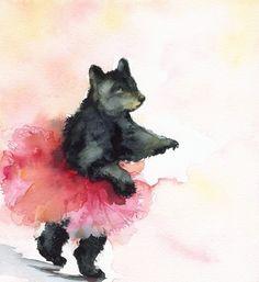 it's a bear. it's BALLET DANCING.
