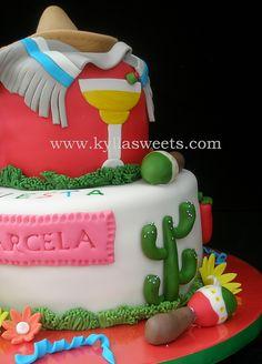 Fiesta Cake, Fiesta Party, 50th Party, Birthday Parties, 40th Birthday, Beautiful Cakes, Amazing Cakes, Dessert Drinks, Desserts