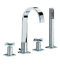 Mayfair Surf 4 Tap Hole Bath Shower Mixer Tap With Shower Kit - RDX049 $84.95