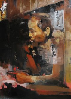 "Saatchi Online Artist: Julien Spianti; Oil, 2012, Painting ""Anonymous missing person #2"""
