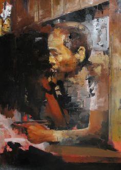 "Saatchi Online Artist: Julien Spianti; Oil, 2012, Painting ""Anonymous missing person #2"""