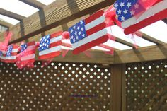 Popsicle stick crafts are the perfect way to get your kids involved in your Fourth of July decorating. Let them help out with these popsicle stick flags.