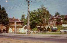 LÁÉV végállomás a Szent Anna téren Hungary, Buildings, Landscapes, The Past, Anna, Cabin, Mansions, History, House Styles