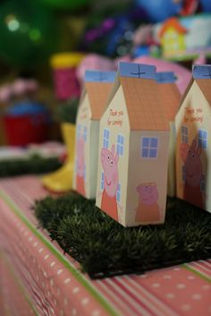 Cute favors from a Peppa Pig girl birthday party!  See more party ideas at CatchMyParty.com!