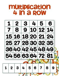 Get your students practicing multiplication with this strategy-based game. Send this game home for some friendly family competition as well!