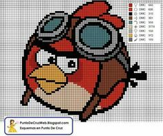 Angry Birds - Point de Croix/Cross Stitch - Red