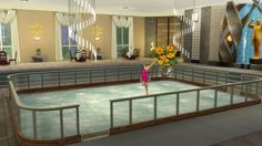 Mod The Sims: Two Skates: Indoor Ice Skating Rink and Restaurant by Snowhaze • Sims 4 Downloads