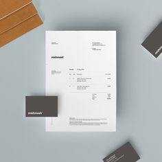Invoice design layout type graphic design print