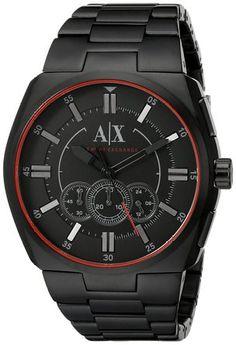 Armani Exchange Men's AX1801 Analog Display Analog Quartz Black Watch