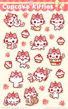 cupcake, kawaii, and kitty-bild