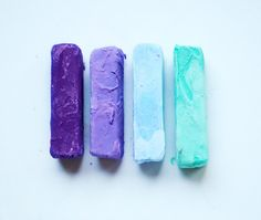 MERMAID - Hair Chalk Set // Blue Teal Purple -  Dip Tie Dye Effect // Boho Hipster Emo Scene Pastel for Human Hair // Marbleized on Etsy, $8.00