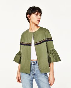 Frilled Jacket New Sleeves In With PPAwr45q