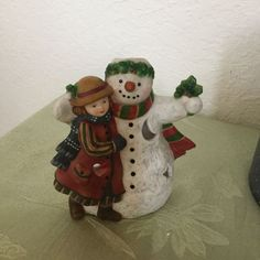 Tealight Holder Susan Winget Christmas Winter Holiday Snowman Snowfriends #LangCandles